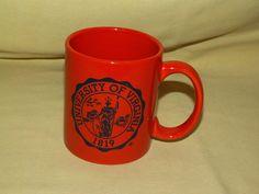 UNIVERSITY VIRGINIA MUG UVA COFFEE TEA CUP ORANGE BLUE SEAL 1819 CHARLOTTESVILLE