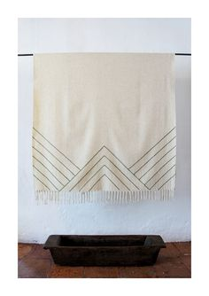 Image of Stella Lines Embroidered Blanket TRIANGLE hand made in Mexico Mexchic www.mexchic.co