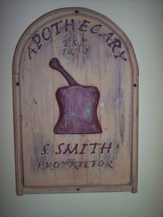 Apothecary Sign Folk Art