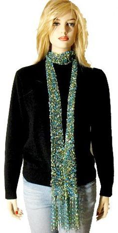 """Kate Skinny Scarf  free pattern to use with """"ladder ribbon"""""""