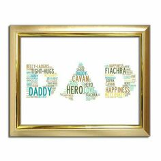 All Print, Special Gifts, Fathers Day, Dads, Anniversary, Husband, Happiness, Notes, Letters