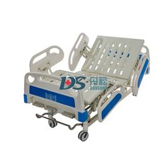 Pneumatic Damping Guardrails 3 Cranks Manual Hospital Bed with Wheels, 3 Function Hospital Bed, Medical Bed,Model NO.:BC05, Condition:New, Use:Hospital, Nursing Home, Rehab Center, Package Dimensions:2140*1120*450mm, Weight:115kg, Bearing Weight:160kg, Trademark:Dansong, Transport Package:Carton, Specification:2200*900*450-720mm, Origin:China, HS Code:9402900000 Hospital Bed, Beds For Sale, Site Visit, Medical Equipment, Metal Beds, Clinic, Transportation, Medical Care, Design