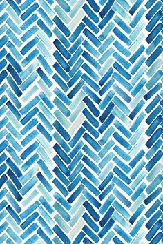 Blue watercolor herringbone design on fabric, wallpaper or gift wrap. This modern design could add a playful touch to any boring space! Watercolor Fabric, Watercolor Wallpaper, Watercolor Pattern, Fabric Wallpaper, Pattern Wallpaper, Wallpaper Art, Watercolor Design, Herringbone Wallpaper, Herringbone Fabric