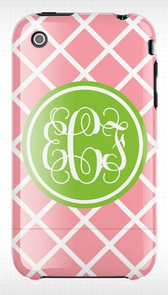 monogramed iphone case....This is one of the reasons why I need an iphone! :)