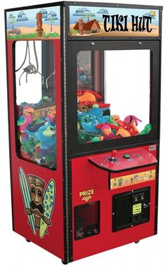 Claw Machine...lost many quarters in these at Panteras Pizza