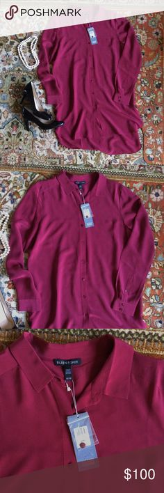 NWT Eileen Fisher silk tunic Gorgeous silk tunic top/dress, new with tags.  Original price $245 - what was I thinking??!  My closet mania is your luck!! Eileen Fisher Dresses