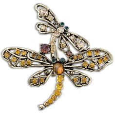 Pugster Mom Child Dragonfly With Topaz Yellow Swarovski Crystal Diamond Accent Animal Brooches And Pins For Holiday Gifts ? Pugster. $14.95. One free elegant cushioned Gift box available with every order from Pugster.. Occasion: casual wear,anniversary, bridal, cocktail party, wedding. Money-back Satisfaction Guarantee.. Can be pinned on your gown or fastened in your hair with bobby pins.. Exquisitely detailed designer style with Swarovski cystal element.