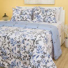 356d1221e0 Enxoval Cama Casal Botanic 7 Peças - Casa   Conforto - 1 edredom leve dupla  face