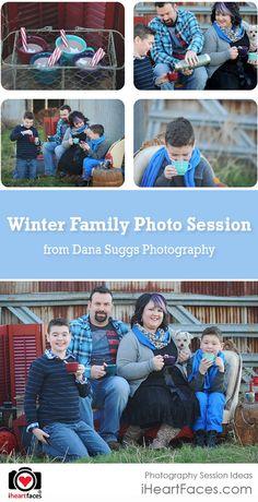 Beautiful Winter Family Photo Session Ideas
