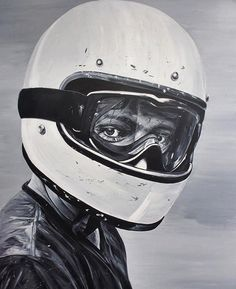 Moto Art by @ricardorodriguezart for his Milan exhibit. Acrylic on canvas. Nicely done! . . . #croig #caferacersofinstagram #caferacer #art