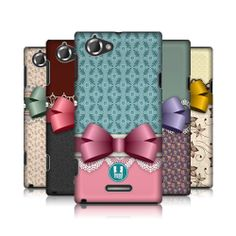 HEAD CASE DESIGNS LACES AND RIBBONS HARD BACK CASE COVER FOR SONY XPERIA L C2105