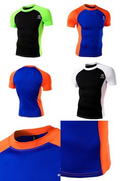 [Visit to Buy] Men's Sports Short Sleeve Running T-shirts Dry Fit T shirt Men Fitness Tees&Tops Slim Fit Sportwear  Workout Sport T-shirts 05 #Advertisement