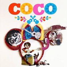 """1,767 Likes, 111 Comments - mouse ears (@uniqueearsbyili) on Instagram: """"Here they are!!! Coco ears they ship out in March! Featuring Miguel, dante, and Miguel's guitar!!!!…"""""""