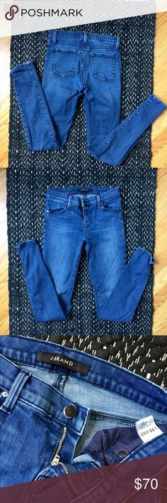 J Brand Super Skinny Jeans Another pair of jeans in flawless condition! 👖Super Skinny Fit || Mid-Rise || 8.75-inch || 52% Cotton, 42% Lyocell, 4% Polyester, 2% Elastane J Brand Jeans Skinny