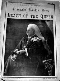 ...DEATH OF THE QUEEN ... - Queen Victoria (Alexandrina Victoria; 24th May 1819 – 22nd January 1901) was the monarch of the United Kingdom of Great Britain and Ireland from 20 June 1837 until her death. From 1st May 1876, she used the additional title of Empress of India.