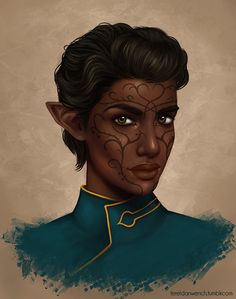 "fereldanwench: "" @brialavellan's Lavellan! Thank you again for commissioning me–I loved working on her. """