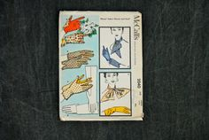 """50's McCall's 2040 Misses' Fabric Gloves and Scarf Pattern // Large 7-7 1/4"""" FF"""