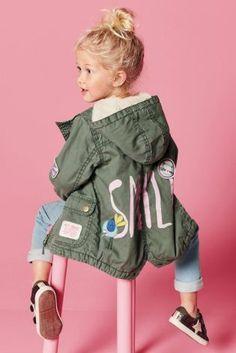 Buy Khaki Badge Embellished Parka (3mths-6yrs) from the Next UK online shop