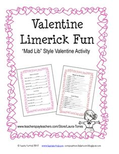 valentine poems limericks