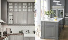 Grey kitchens are so fresh and clean, you'll want to cook all day long.