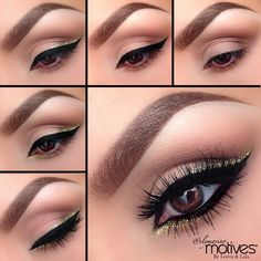 Nice clean eye makeup that doesn't draw too much attention