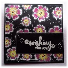 In the black floral stamped female birthday card, get well, hello.  My Favourite things dies