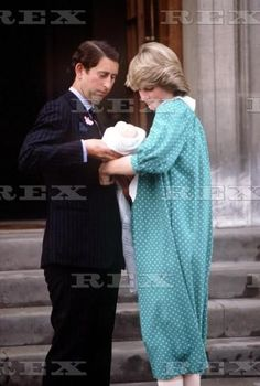 June 22, 1982: Prince Charles and Princess Diana with newborn Prince William as they leave St. Mary's Hospital in Paddington, London.