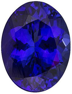 Genuine Tanzanite Loose Gemstone, Blue Purple Color Violet, Oval Cut, 9 x 72.33 Carats at BitCoin Gems