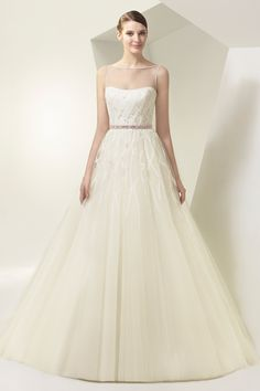 Beautiful by Enzoani gown So simple and so sharp, but so perfect.