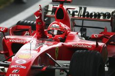 Michael Schumacher in his final Formula 1 victory at the Chinese Grand Prix. Michael Schumacher, Chinese Grand Prix, Fourth World, Ferrari F1, F1 Drivers, Racing Team, Auto Racing, Car And Driver, Formula One