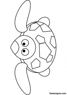 Print out oceanTurtle coloring page - Printable Coloring Pages For Kids