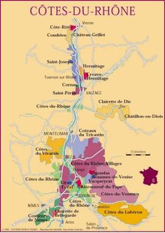 Wine Map #Rhône #wine #france #rhone #wineeducation