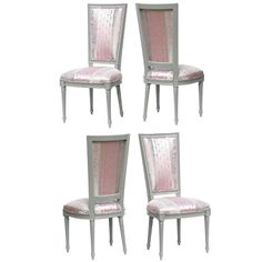 Louis XVI Dining Chairs in Donghia | From a unique collection of antique and modern dining room chairs at https://www.1stdibs.com/furniture/seating/dining-room-chairs/