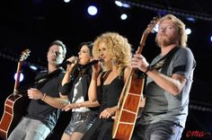 Little Big Town performs at LP Field in Downtown Nashville on Saturday, June 9 during the 2012 CMA Music Festival. Photo courtesy of the CMA., 2012