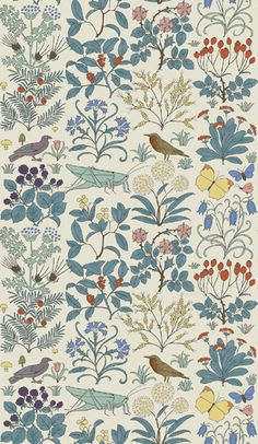 I love Trustworth wallpaper. Forever and ever. Apothecary's Garden is my favorite.