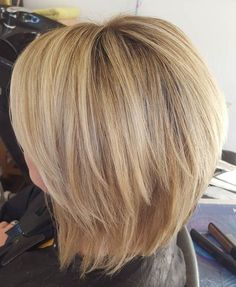 blonde chopped bob haircut