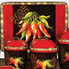 Chili Pepper Decor Chili Pepper By Tre Sorelle Studios Certified International Kitchen Themeskitchen