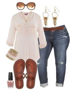 Plus size boyfriend jeans outfit - plus size fashion for women - alexa webb - alexawebb Xl Mode, Mode Plus, Mode Outfits, Casual Outfits, Fashion Outfits, Womens Fashion, Summer Outfits, Curvy Outfits, Fashion 2017