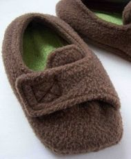 Free fleece slipper pattern