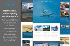 ALT-V travel agency email template by QuickArtisan on Creative Market