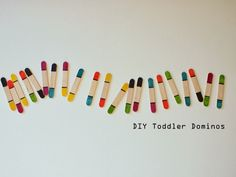 Pink Stripey Socks: Super easy DIY Toddler Dominos