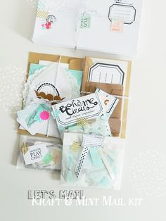 Mail kit - Kraft, inspiration for layering :)