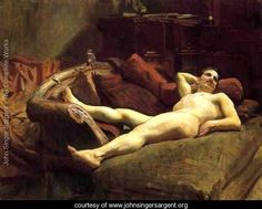 Title:	Male Model Resting  Painted by:	John Singer Sargent