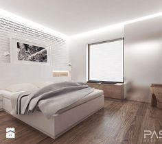 projekt 6 - Średnia sypialnia małżeńska, styl minimalistyczny - zdjęcie od PASS architekci