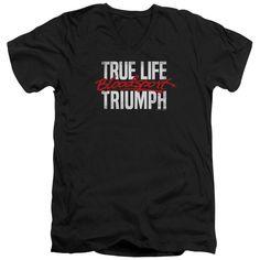 Bloodsport/True Story Short Sleeve Adult T-Shirt V-Neck 30/1 in