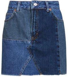 Topshop Moto patchwork skirt