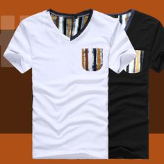 Summer new arrival 2013 fashion male vintage patchwork V-neck T-shirt short-sleeve shirt slim male men's clothing
