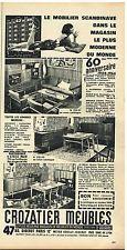 Publicité Advertising 1964 Crozatier meubles