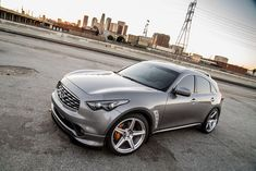 Infiniti with HRE in Brushed Tinted Clear Nissan 4x4, Nissan Leaf, Infiniti Fx35, Nissan Infiniti, Infinity Suv, Dude Where's My Car, Infiniti Vehicles, Mazda Cx5, Japanese Cars