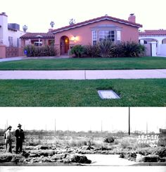 """On January 1947 the horrifyingly mutilated naked body of Elizabeth Short, a.a """"The Black Dahlia"""", was found on the 300 block of Norton Street in Leimert Park, in Los Angeles. Located here at 3925 S. Norton Avenue to be exact. California Love, California History, Creepy History, Los Angeles Neighborhoods, Black Dahlia, Mystery Of History, City Of Angels, Girl Meets World, The Real World"""